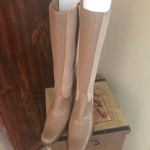 0fc58acc1cf HOKUS POKUS TAN AND BEIGE RIDING BOOTS